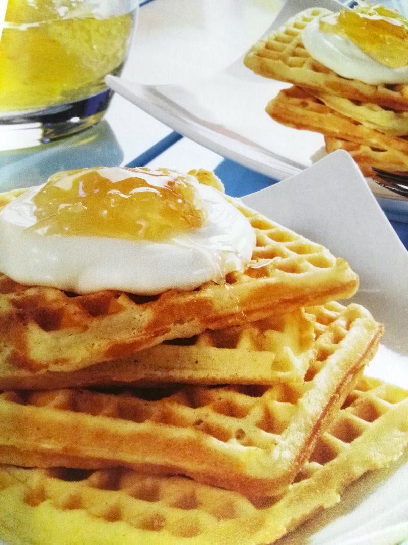 leicht-rezept-butterwaffeln-mit-frischkäse-frühstück-kochen