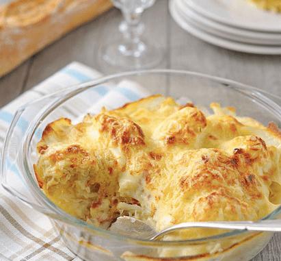 leichtrezept-blumenkohl-gratin-backen-überbacken-käse-kochen-ernährung-gesund-essen